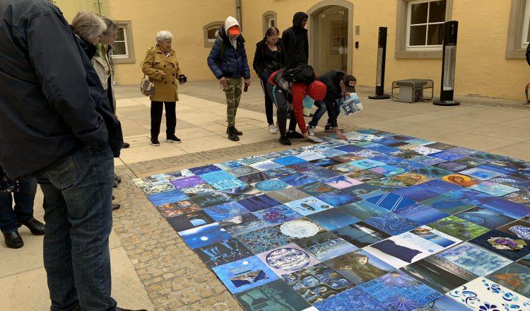 D'ENAD leet de bloen Teppech aus! L'ENAD accueille le tapis bleu transculturel des Itinéraires culturels !