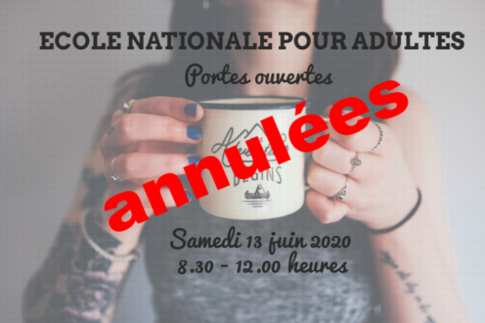 Portes ouvertes ANNULEES