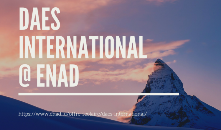 NEW: DAES international as of the school year 2021/2022